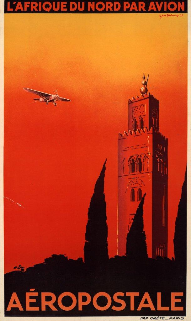 Affiche publicitaire de l'Aéropostale. ©Musée Air France