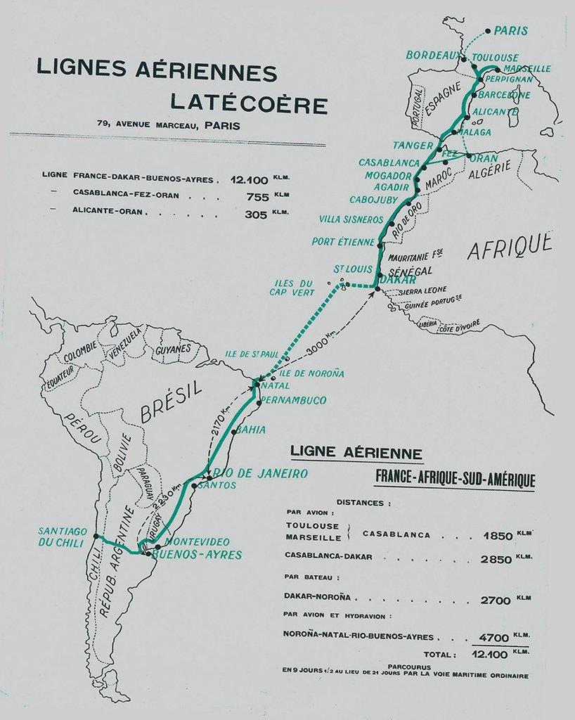 Lignes aériennes Latécoère. Crédit: Fondation Latécoère