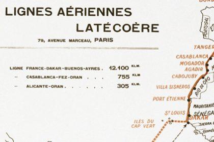 Carte de la ligne aéropostale