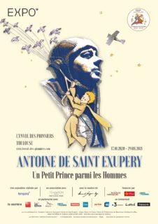 Affiche expostion Saint Exupéry Un Petit Prince parmi les Hommes