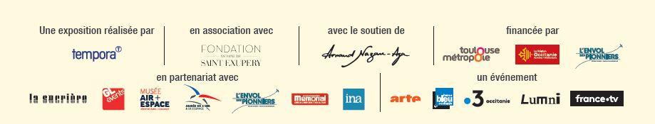 bandeau logos partenaires expostion Saint Exupéry Un Petit Prince parmi les Hommes